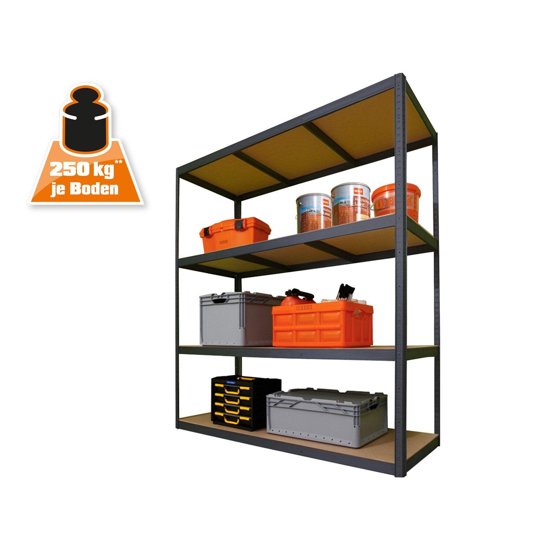 obi metall schwerlast steckregal xxl 180 cm x 160 cm x 60. Black Bedroom Furniture Sets. Home Design Ideas