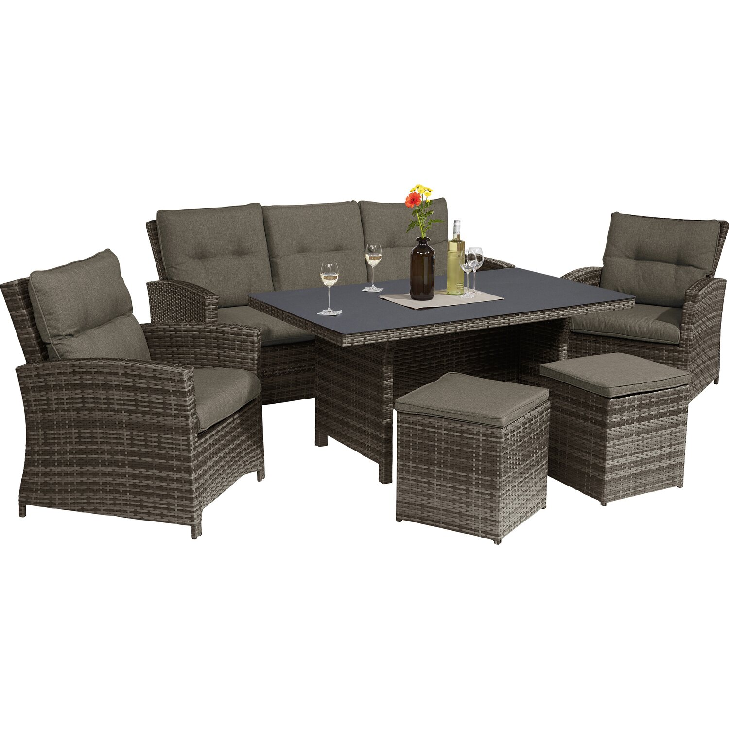 Esstisch Lounge Gruppe Vermont Shadow Earth 6 Teilig