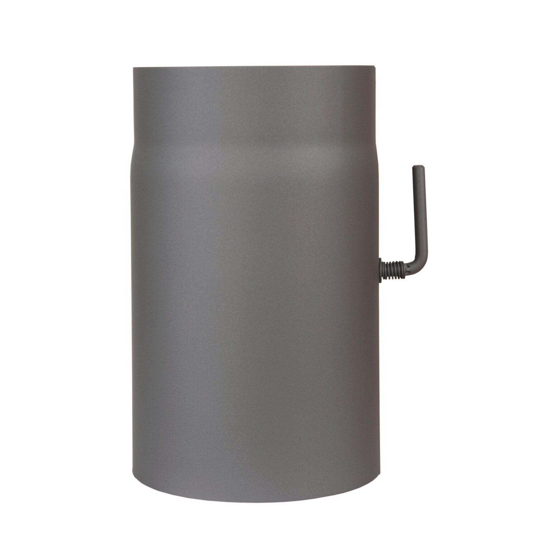OBI Rauchrohr mit Drosselklappe Ø 150 mm Grau