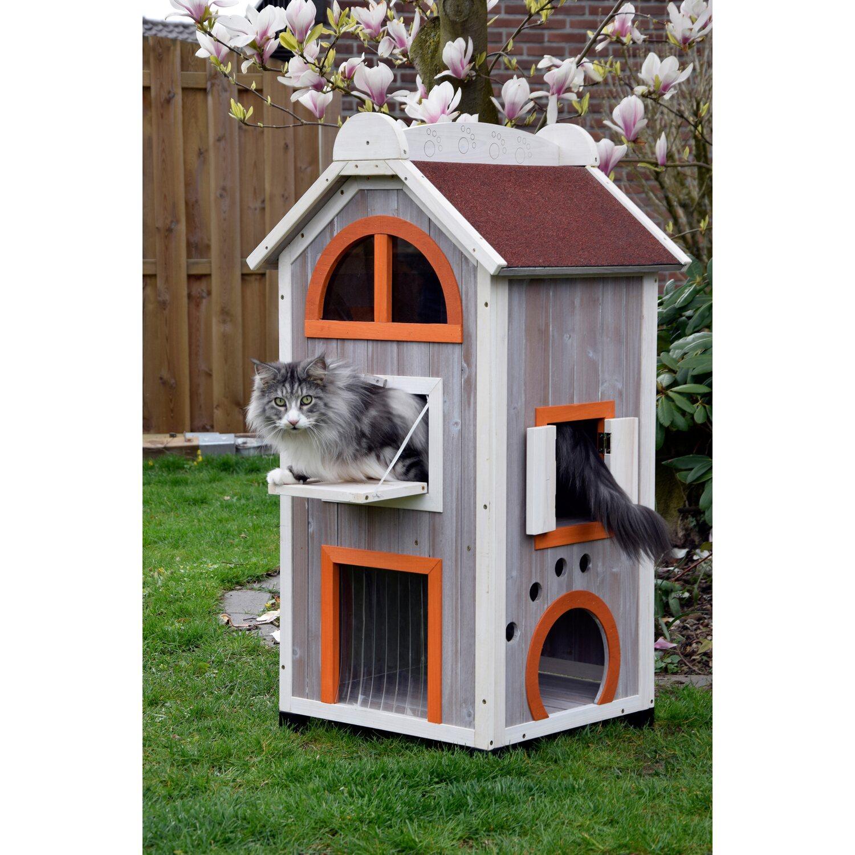 katzenhaus fancy cat aus holz f r drau en und drinnen kaufen bei obi. Black Bedroom Furniture Sets. Home Design Ideas