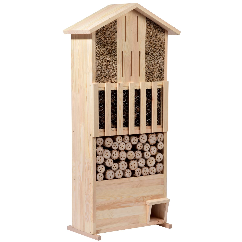 xxl insektenhotel-wand mit igelhaus aus massivem kiefernholz kaufen