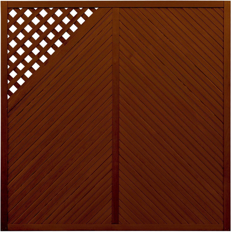 Sichtschutzzaun Element Brest Braun 180 cm x 180 cm kaufen bei OBI