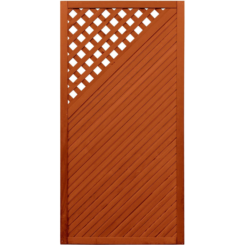 sichtschutzzaun element brest teakfarben 180 cm x 90 cm kaufen bei obi. Black Bedroom Furniture Sets. Home Design Ideas