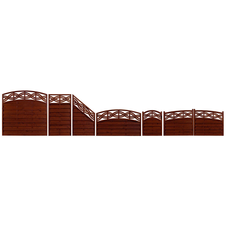Andrewex Sichtschutzzaun Element Chateau Braun 164 180 X 180 Cm