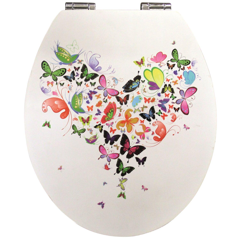 sanwood wc sitz glossy art mit absenkautomatik butterfly kaufen bei obi. Black Bedroom Furniture Sets. Home Design Ideas
