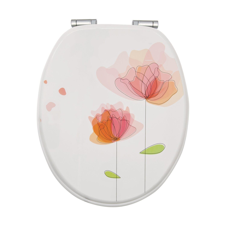 WC-Sitz Flora rot