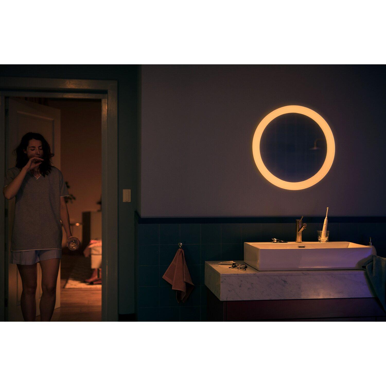 Philips Hue LED-Lichtspiegel Adore inkl. Dimmschalter Weiß EEK: A+