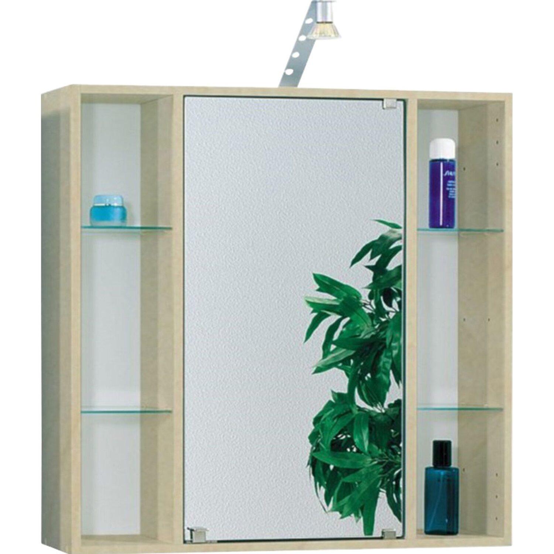 fackelmann spiegelschrank lilly 65 cm birke wei kaufen bei obi. Black Bedroom Furniture Sets. Home Design Ideas