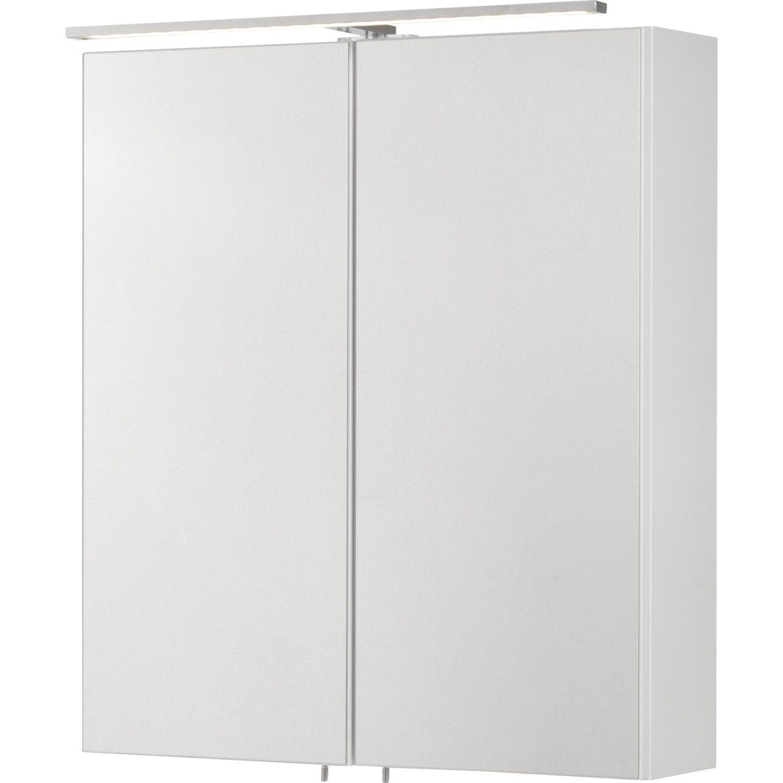 Fackelmann , EEK: A, Spiegelschrank Como 60 cm Weiß