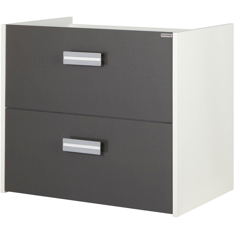 fackelmann waschbeckenunterschrank 70 cm gent wei anthrazit kaufen bei obi. Black Bedroom Furniture Sets. Home Design Ideas