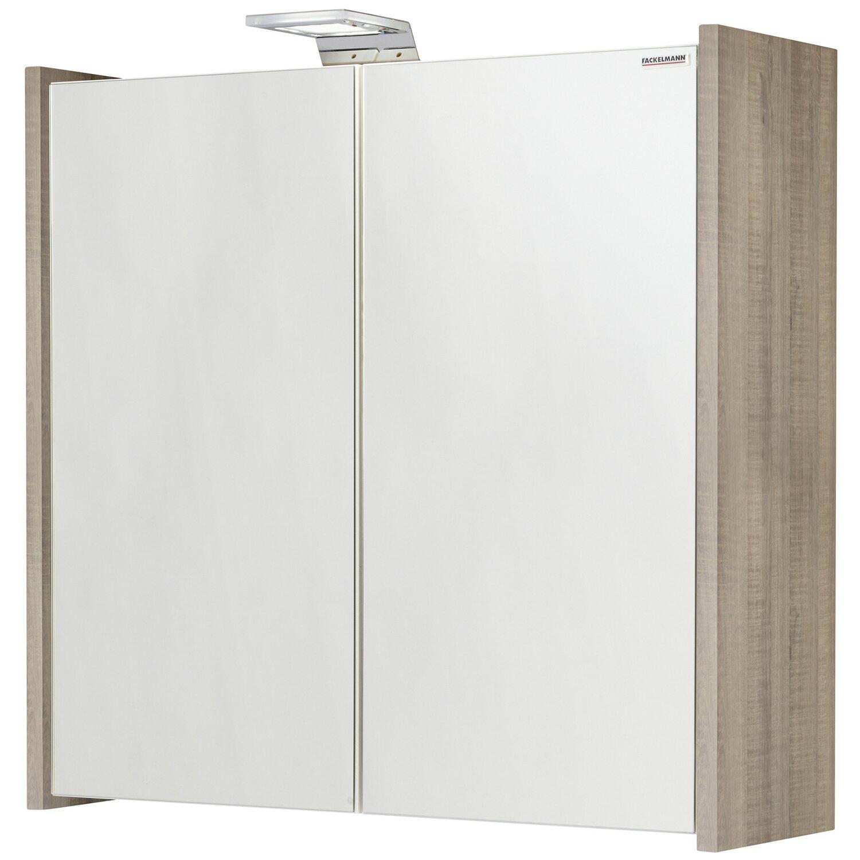 Fackelmann eek a spiegelschrank soneo 63 cm graueiche for Spiegelschrank obi