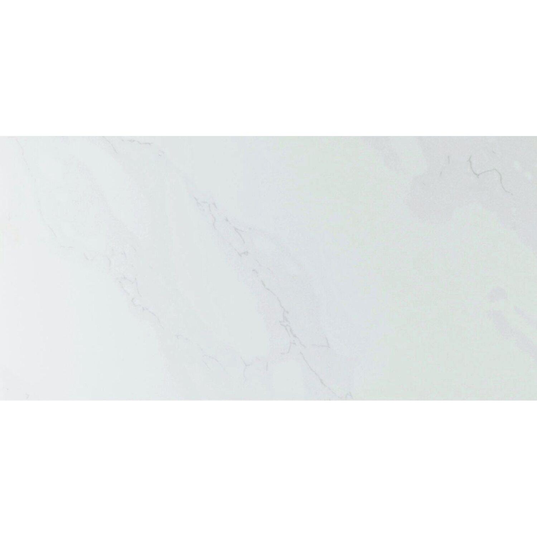 Sonstige Wandfliese Carrara Weiß glänzend marmoriert 30 cm x 60 cm