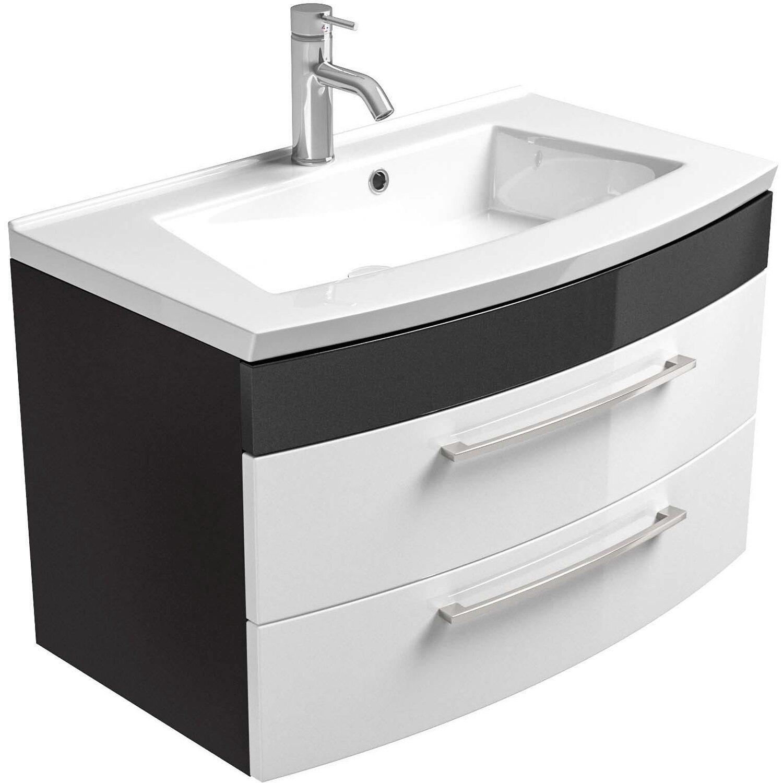 Waschplatz Waschbecken Mit Schrank Spiegel Wenge Dunkel Braun Wc