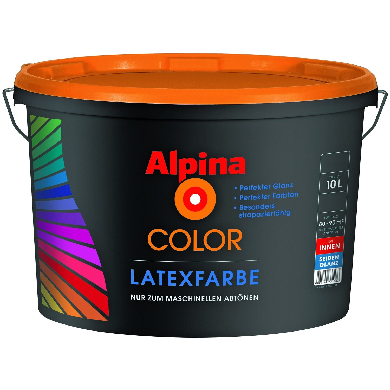 Alpina Color Latexfarbe B3 Seidenglanzend 10 L