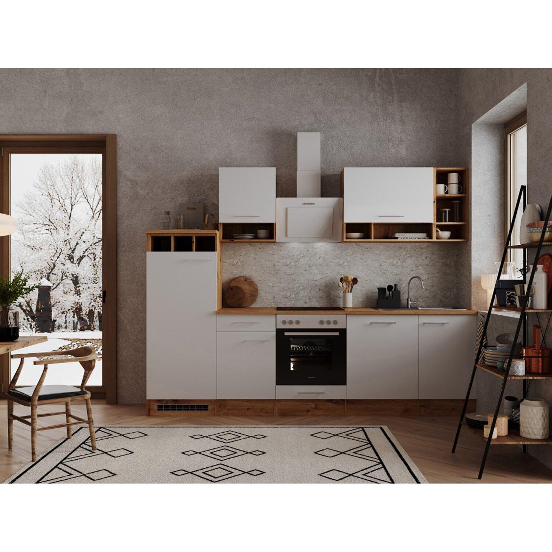 Respekta Küchenzeile 280 cm Weiß-Wildeiche Nachbildung kaufen bei OBI