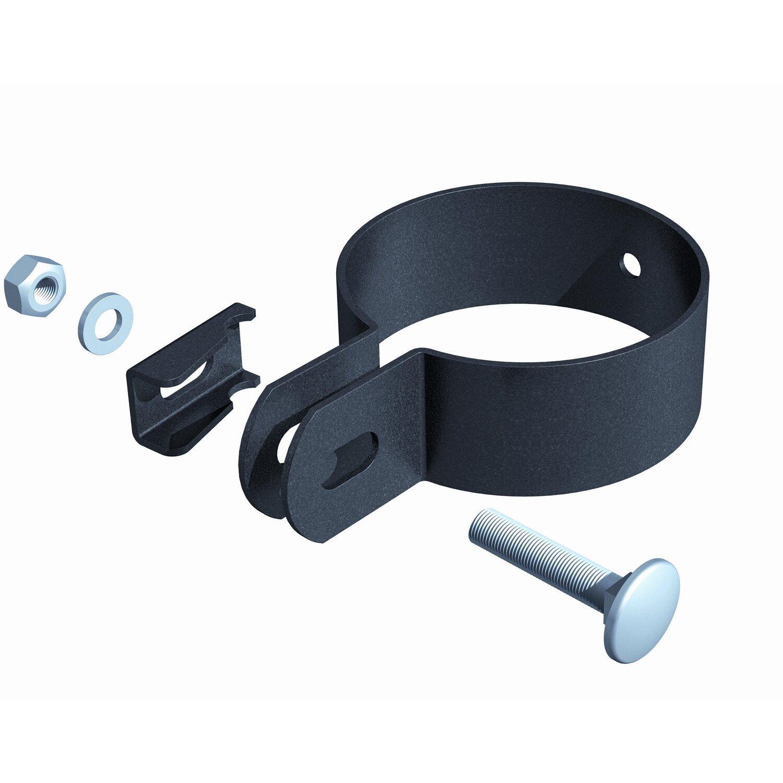 metallzaun doppeltor set nexus anthrazit z einbetonieren. Black Bedroom Furniture Sets. Home Design Ideas