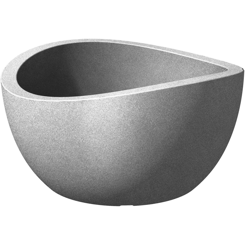 Scheurich Pflanzschale Wave Globe Bowl Ø 39 cm Stony Grey