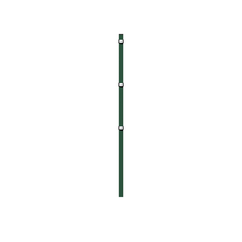 Metallzaun Grund Set Doppelstabmatte Grün z Einbetonieren 80 cm x