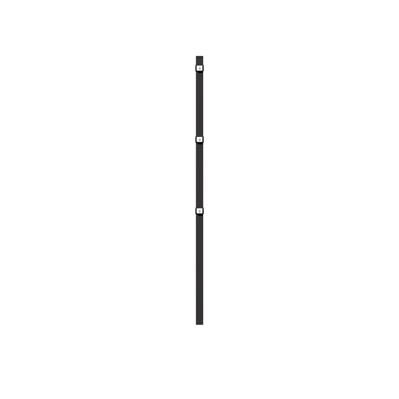 Metallzaun Grund Set Doppelstabmatte Anthrazit z Einbetonieren