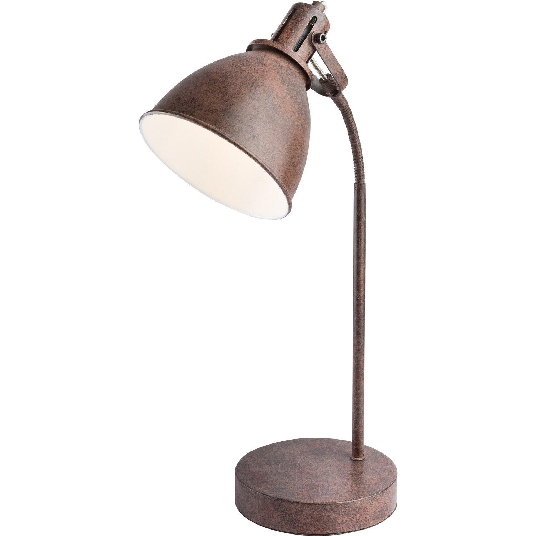 Globo Schreibtischlampe FAMOUS blau E27 Lampe Leuchte Schreibtisch beweglich