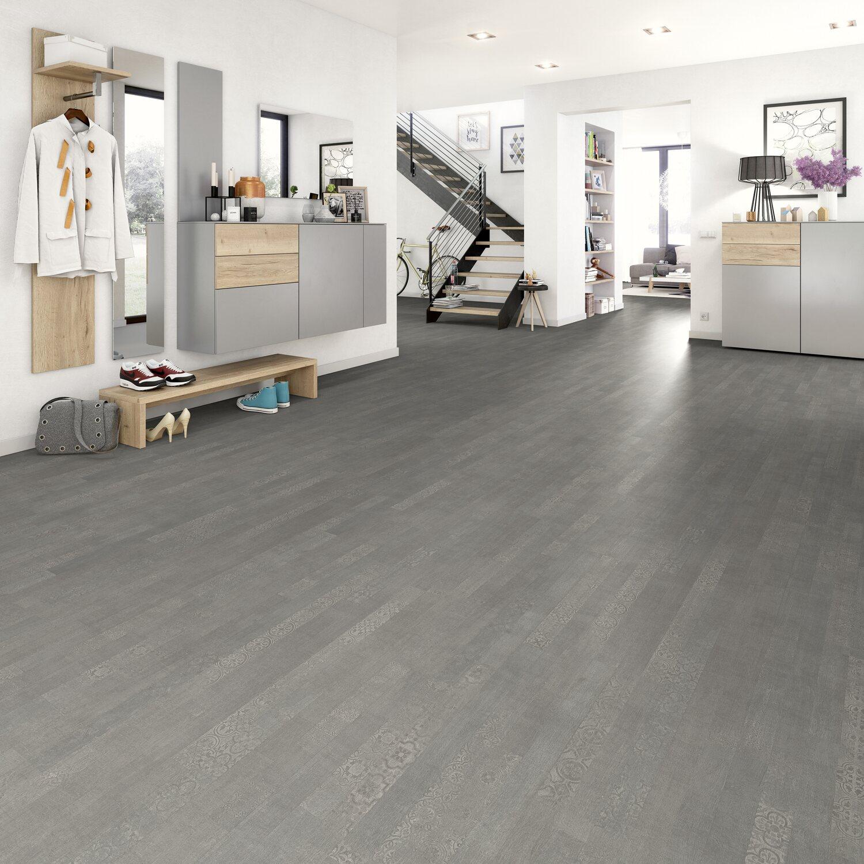 Laminat Grau Wohnzimmer: Egger Home Laminatboden Classic Adana Wood Eiche Grau