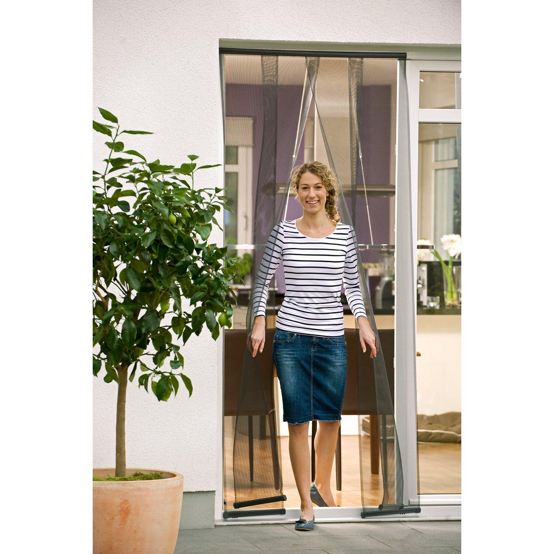 tesa fliegengitter lamellent r standard anthrazit 220 cm x 95 cm kaufen bei obi. Black Bedroom Furniture Sets. Home Design Ideas