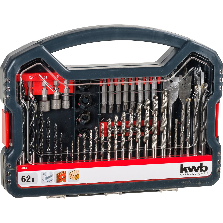 kwb Power-Box Bohrer-Bits mit Steckschlüssel 62-teilig   Baumarkt > Werkzeug > Bohrer und Schrauber   kwb