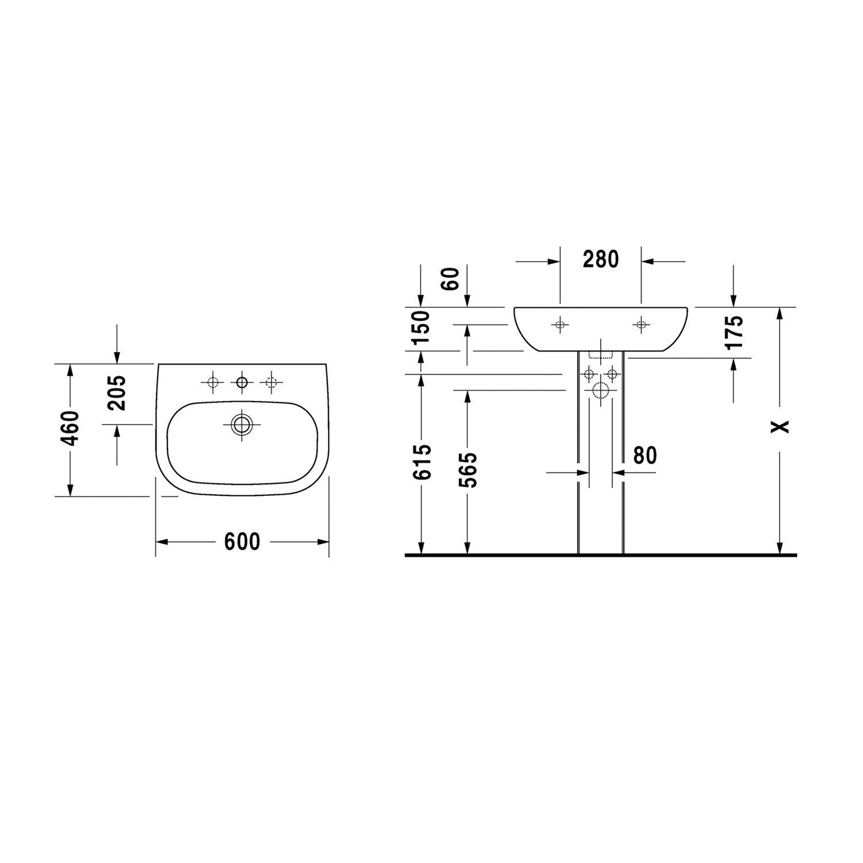 Bevorzugt Duravit Waschbecken 60 cm D-Code Weiß kaufen bei OBI MG13