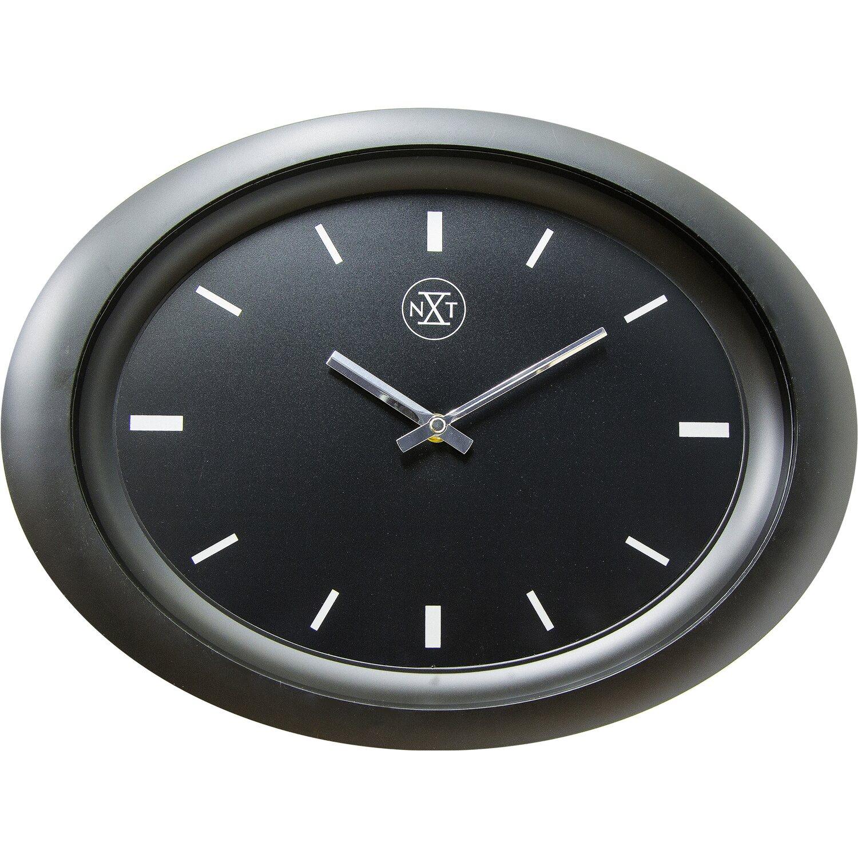 wanduhr oval 30 x 40 cm schwarz kaufen bei obi. Black Bedroom Furniture Sets. Home Design Ideas