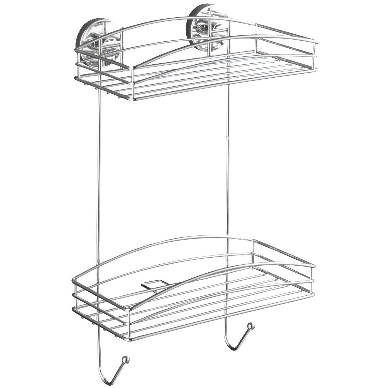 WENKO Vacuum-Loc Wandregal 3 Etagen Milazzo Befestigen ohne bohren   Badregal