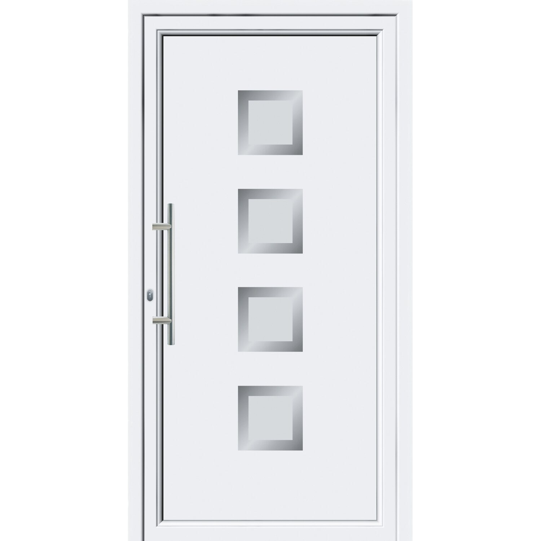 Sonstige Aluminium-Haustür 110 cm x 210 cm EF 55301 Weiß Anschlag Links