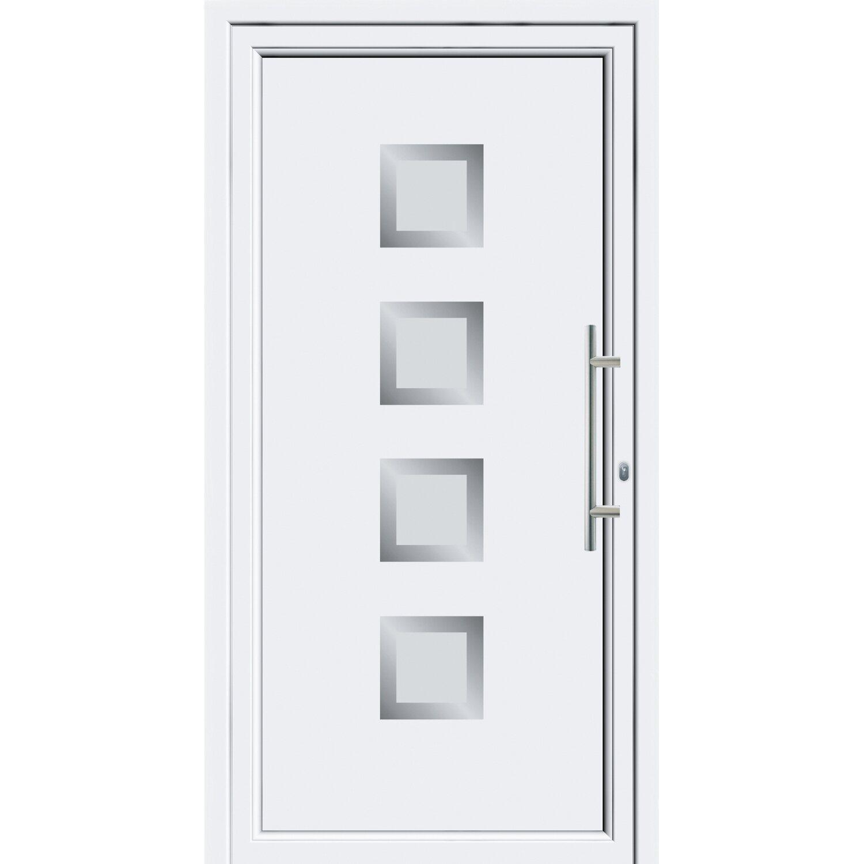 Sonstige Aluminium-Haustür 110 cm x 210 cm EF 55301 Weiß Anschlag Rechts