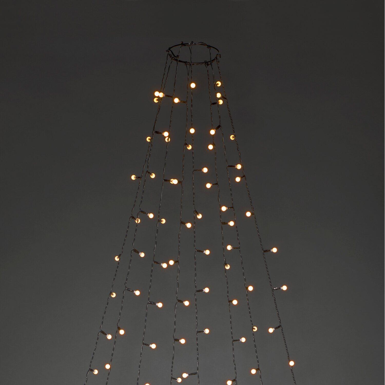 Tannenbaum Lichterkette Led.Led Baummantel Mit Ring Mit Globes 240 Bernsteinfarbenen Leds Innen