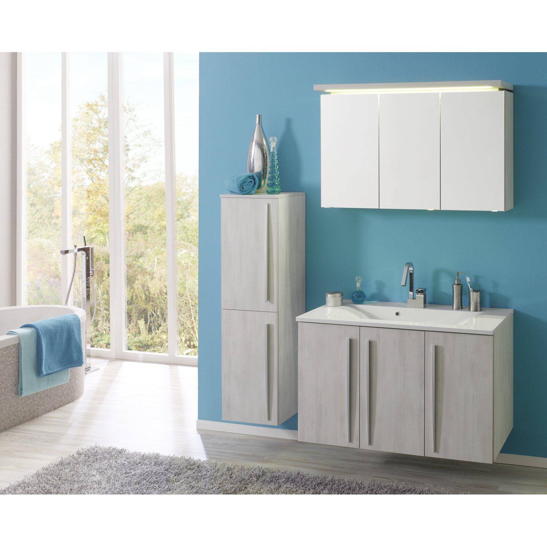 Kesper Spiegelschrank EEK: A-A++ Madeira 100 cm Weiß Struktur ...