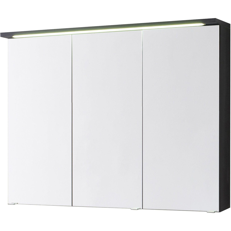 Kesper spiegelschrank bali 80 cm graphit eek a a kaufen for Spiegelschrank obi