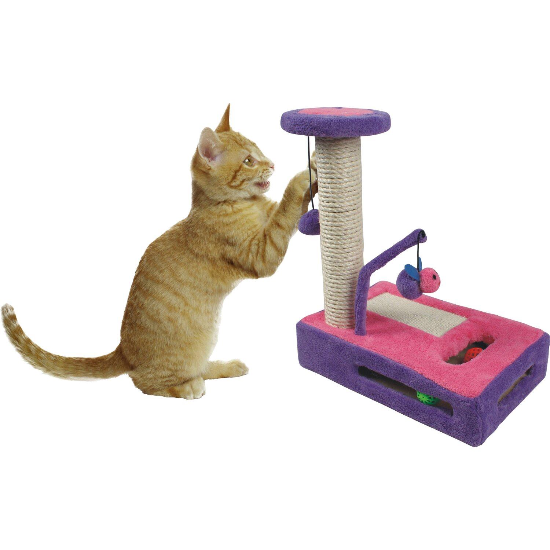 Heim Katzen-Kratzspiel Plüsch 34 cm x 22 cm x 4...