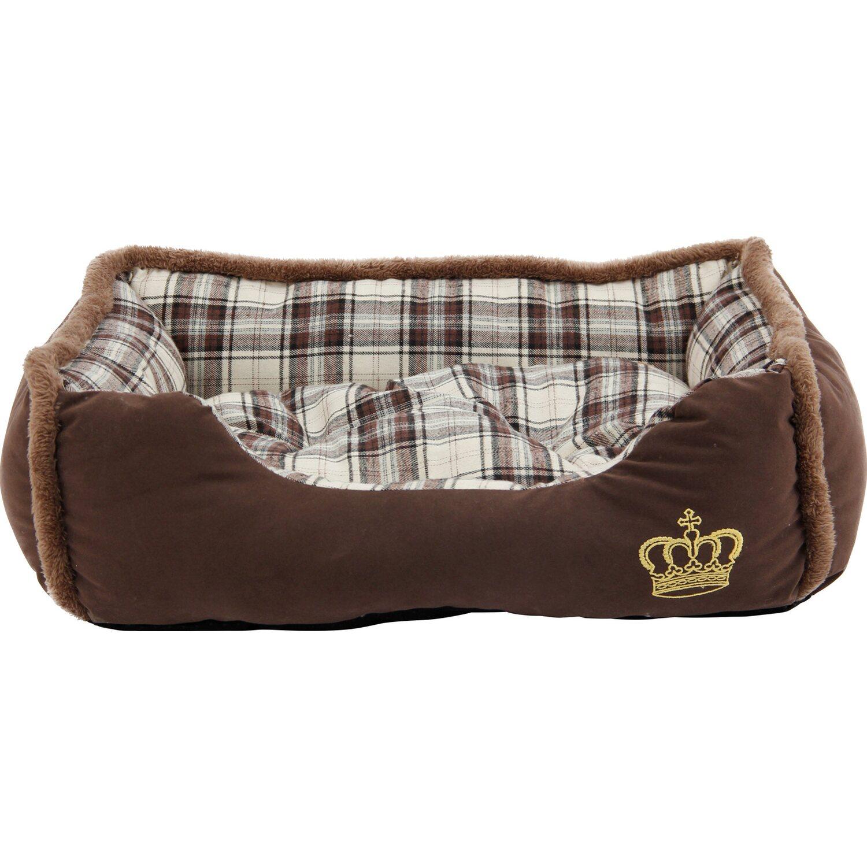 Heim Hunde- und Katzenbett Krone 90 cm x 70 cm ...