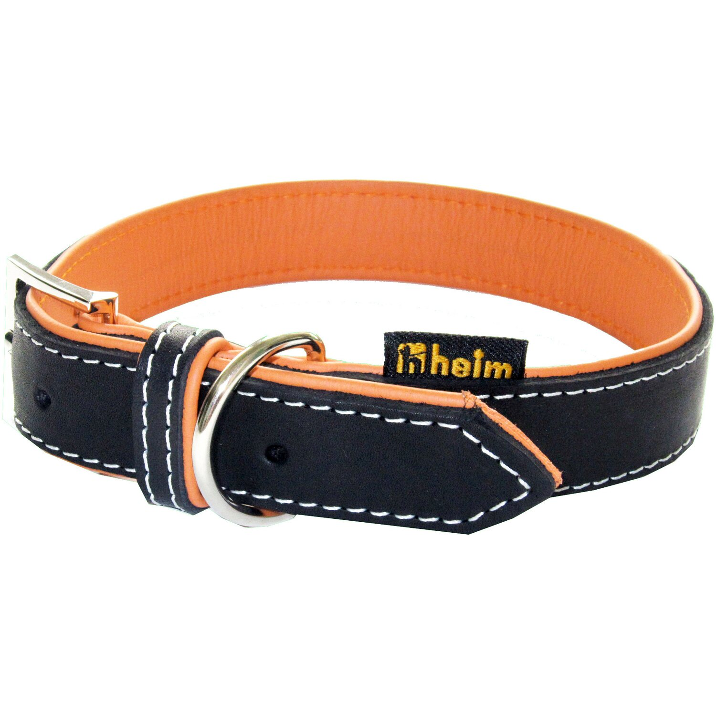 Heim Hundehalsband Leder Florenz Breite 25 mm Länge 50 cm