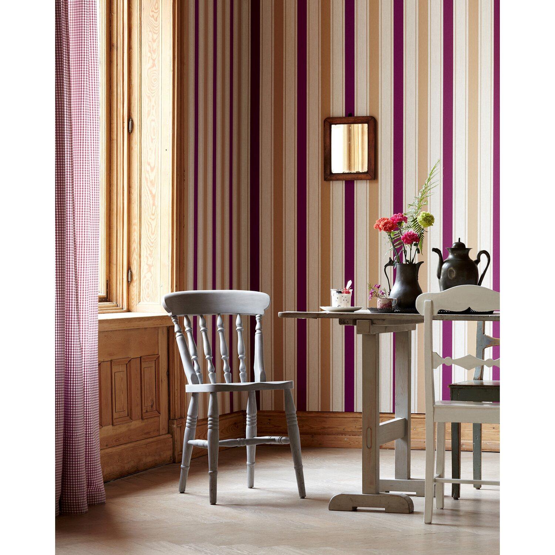 brigitte home vliestapete streifen beige rot kaufen bei obi. Black Bedroom Furniture Sets. Home Design Ideas