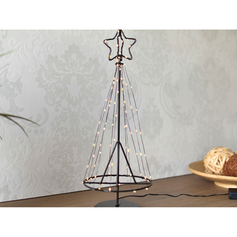 led baum metall 85 warmwei e leds 45 cm innen. Black Bedroom Furniture Sets. Home Design Ideas