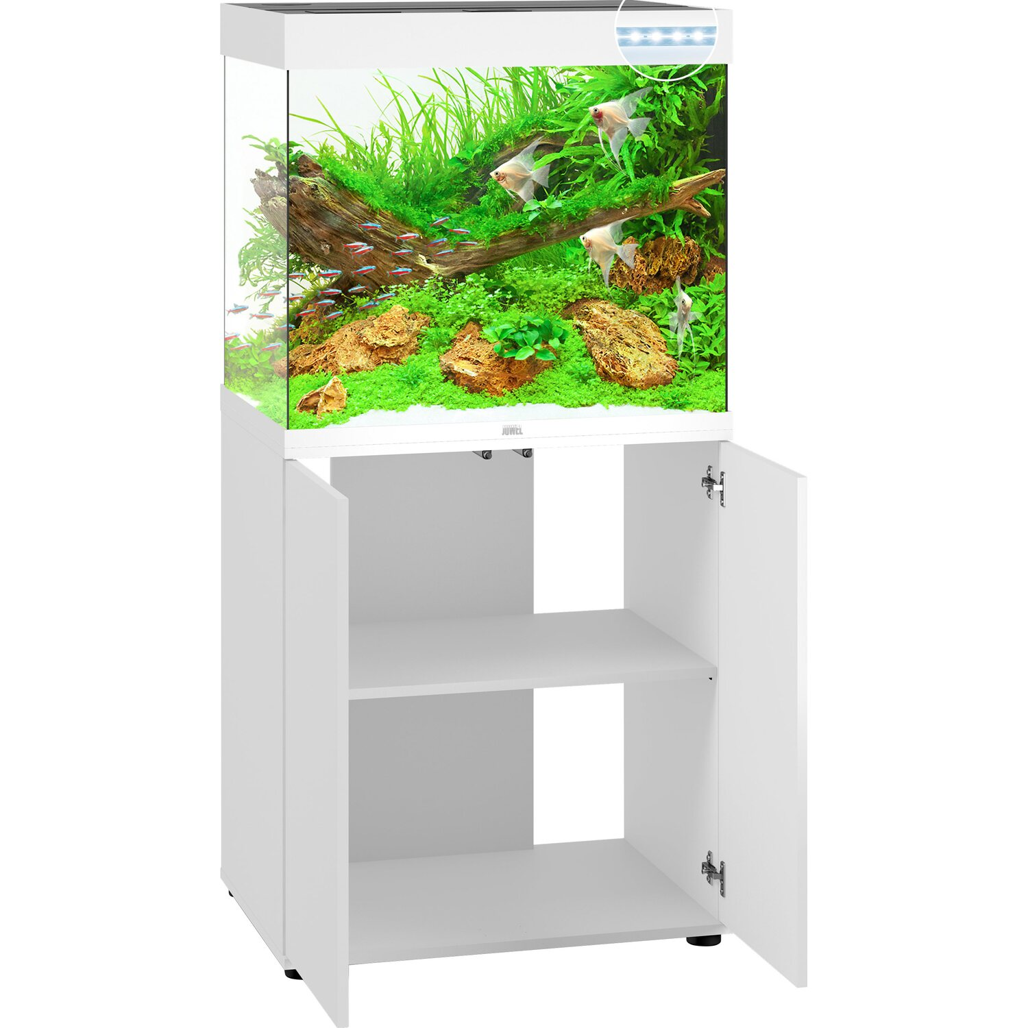 Juwel Aquarium Kombination Lido LED SBX Weiß 200 l