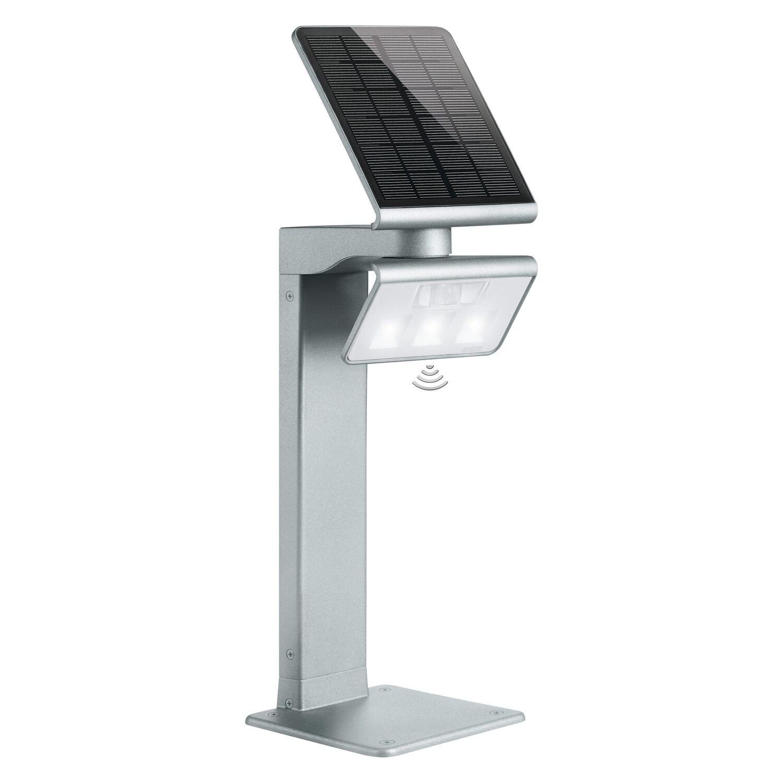 steinel led solar wegeleuchte x solar gl s silber kaufen bei obi. Black Bedroom Furniture Sets. Home Design Ideas