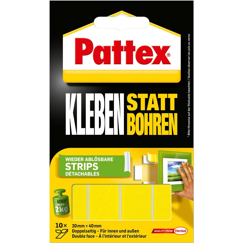 pattex kleben statt bohren strips 10 st ck kaufen bei obi. Black Bedroom Furniture Sets. Home Design Ideas