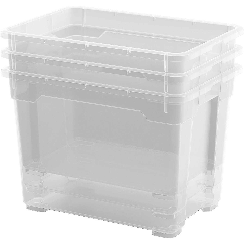 Aufbewahrungsbox mit Deckel 60 L Kunststoffboxen Box Boxen Kisten Stapelboxen