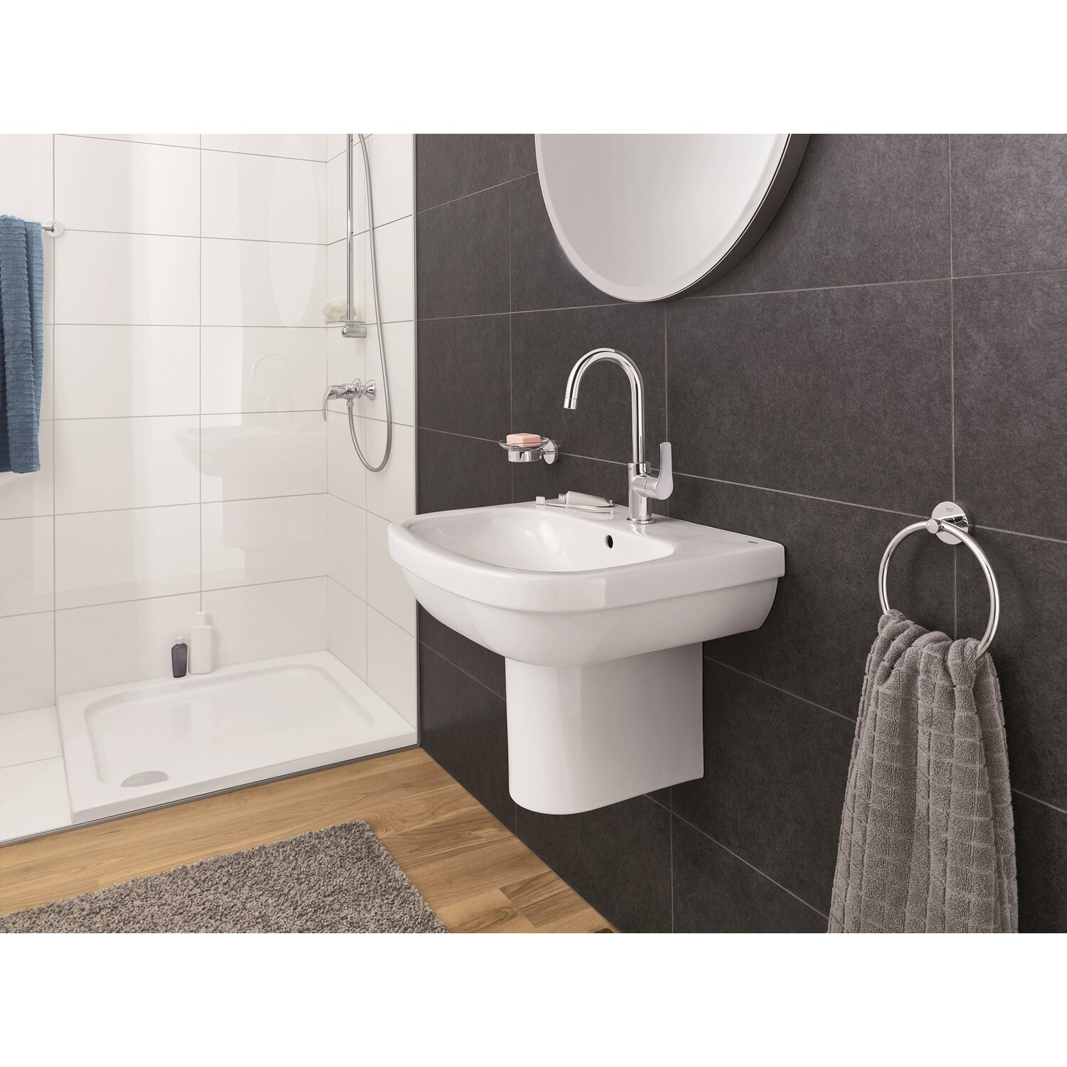 grohe waschbecken euro keramik 65 cm alpinwei kaufen bei obi. Black Bedroom Furniture Sets. Home Design Ideas