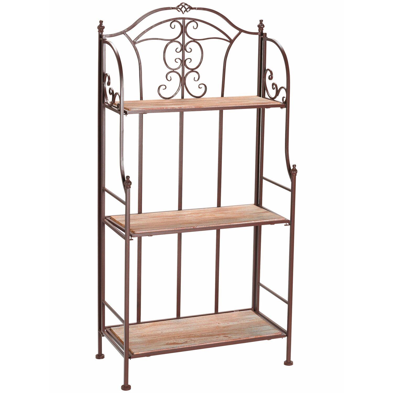 blumenregal mit holzdekoration 122 cm dunkelbraun kaufen. Black Bedroom Furniture Sets. Home Design Ideas