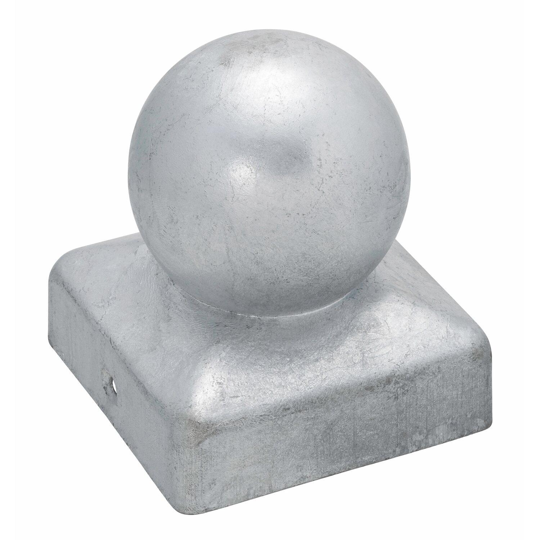 Pfostenkappe quadratisch mit kugel feuerverzinkt 71 mm x - Obi holzpfosten ...