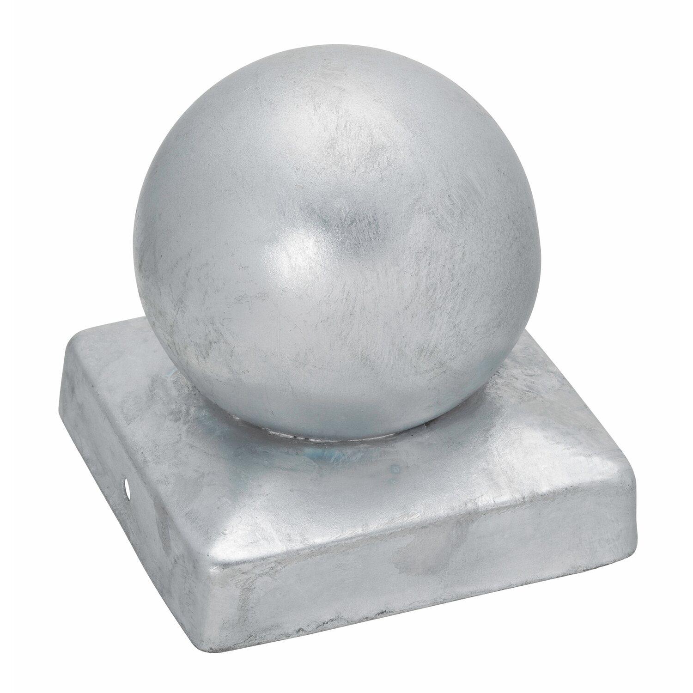 Pfostenkappe quadratisch mit kugel feuerverzinkt 91 mm x - Obi holzpfosten ...