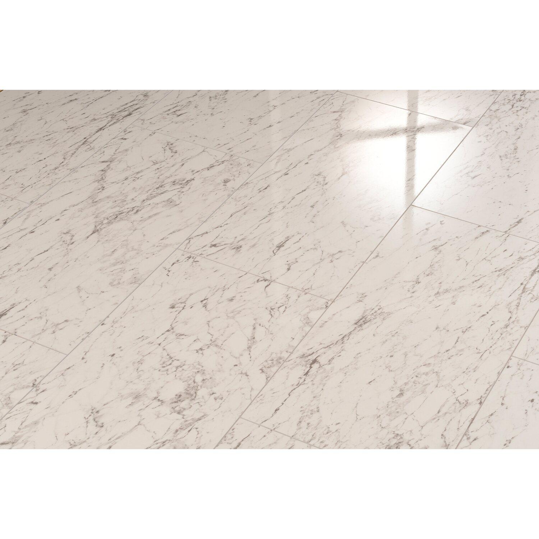Elesgo Laminatboden Brilliant Life Superglanz Maxi V5 Carrara Weiss