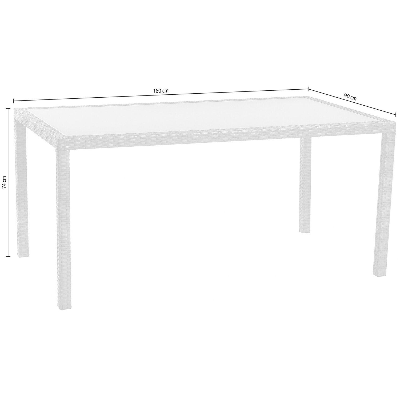 obi tisch davenport graphit 160 x 90 cm kaufen bei obi. Black Bedroom Furniture Sets. Home Design Ideas